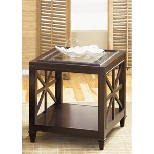 Caroline Espresso End Table
