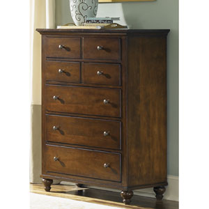 Hamilton Cinnamon Five Drawer Chest