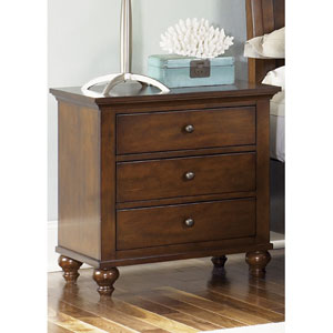 Hamilton Cinnamon Three Drawer Night Stand