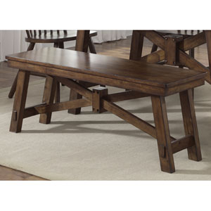 Creations II Tobacco Dining Bench