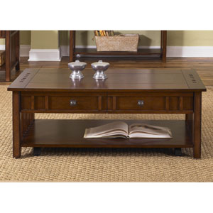 Prairie Hills Satin Cherry Cocktail Table
