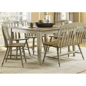 Al Fresco Driftwood and Taupe Rectangular Leg Table