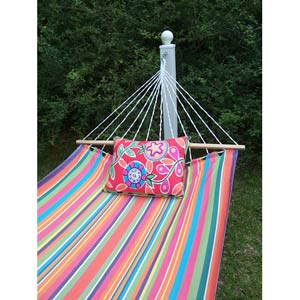 Le Jardin Stripe Hammock Set with Le Jardin Flower Pillow