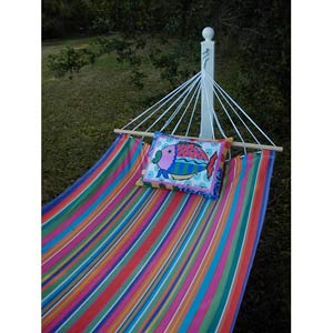 Le Jardin Stripe Hammock Set with Fish Pillow
