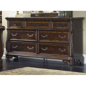 Highland Court Rich Cognac Seven Drawer Dresser
