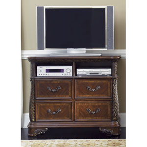 Highland Court Rich Cognac Media Chest