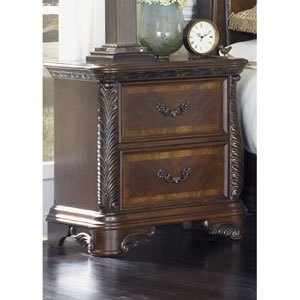 Highland Court Rich Cognac Two Drawer Night Stand