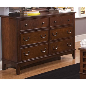 Chelsea Square Burnished Tobacco Double Dresser