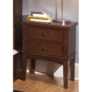 Chelsea Square Burnished Tobacco Night Stand