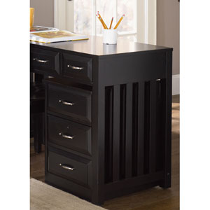 Hampton Bay Black Mobile File Cabinet