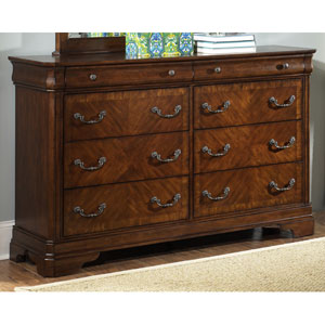 Alexandria Autumn Brown Eight Drawer Dresser