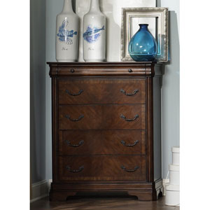 Alexandria Autumn Brown Five Drawer Chest