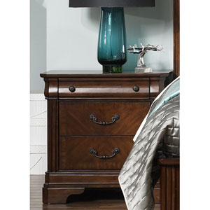 Alexandria Autumn Brown Night Stand