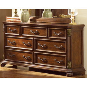 Messina Estates Cognac Seven Drawer Dresser