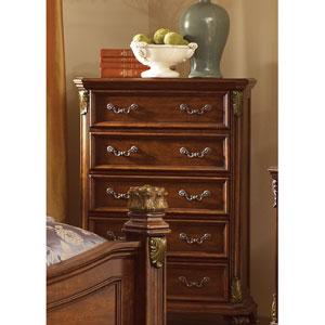 Messina Estates Cognac Five Drawer Chest