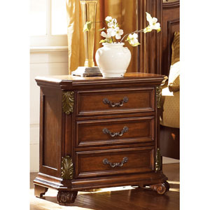 Messina Estates Cognac Three Drawer Night Stand