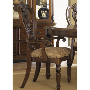 Messina Estates Cognac Splat Back Arm Chair