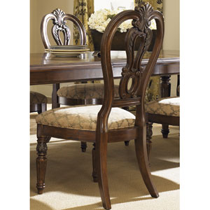 Messina Estates Cognac Splat Back Side Chair