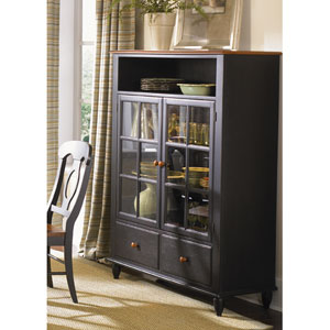 Low Country Anchor Black with Suntan Bronze Curio Cabinet