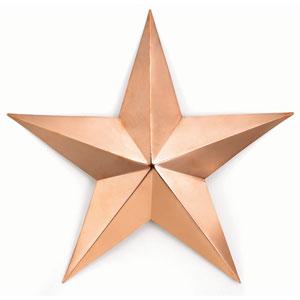 Copper 34-Inch Barn Star Wall Art