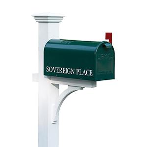 Sovereign Cedar Mailbox Post