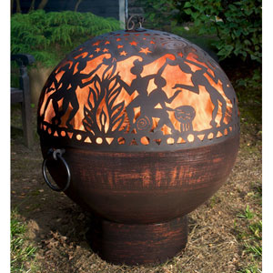 26 Inch Fire Bowl w/Full Moon Party Fire Dome