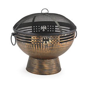 Oversized Eagle Fire Bowl with Spark Screen