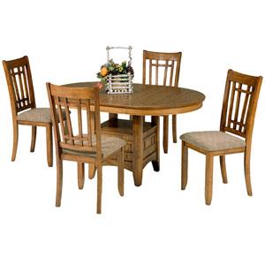 Santa Rosa Mission Oak Oval Pedstal Table