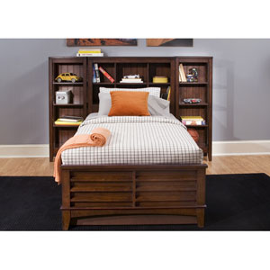 Chelsea Square Burnished Tobacco Twin Bookcase Bed