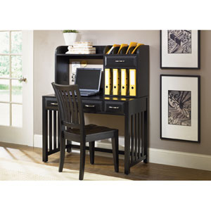 Hampton Bay Black Writing Desk with Hutch