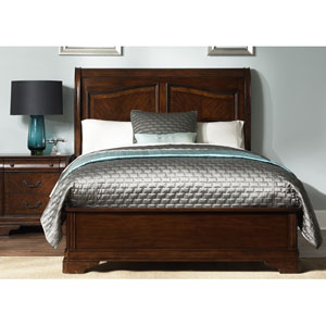 Alexandria Autumn Brown Queen Sleigh Bed