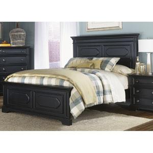 Carrington II Black Queen Panel Bed