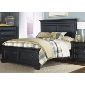 Carrington II Black King Panel Bed