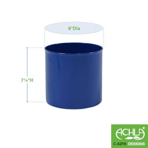 French Blue Flower Pot