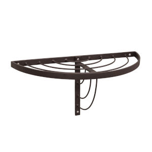 Vita Roman Bronze Powdercoat Half Round Wall Shelf