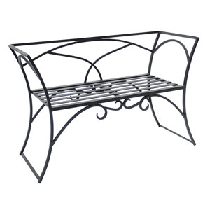 Arbor Wrought Iron Bench With Back