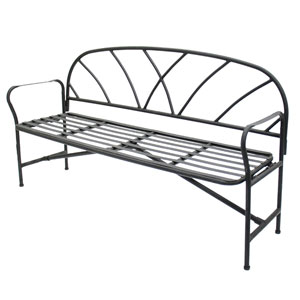 Wrought Iron Lattice Bench