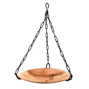 Copper Hanging Birdbath