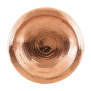 Hammered Copper Bowl w/ Rim