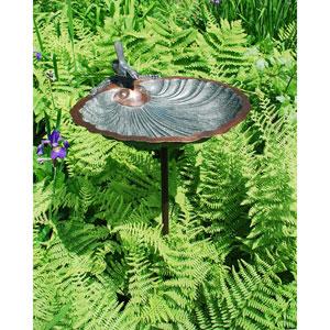 Scallop Shell Birdbath with stand