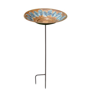 Large Leaf Birdbath with stand