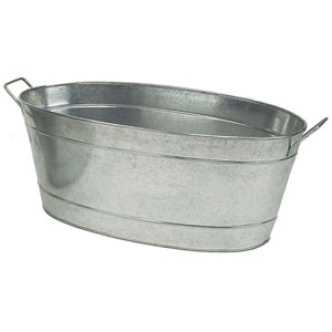 Large Oval Steel Tub