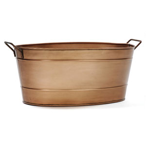 Copper Finished Steel Oval Tub