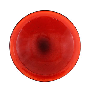 Crackle Glass Bowl Red