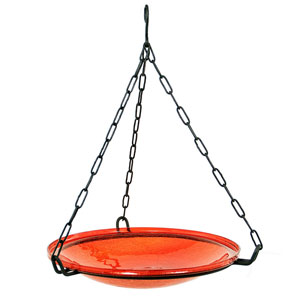 Hanging Red Crackle Bowl Only