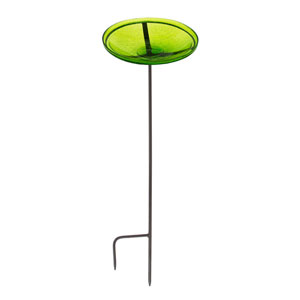 Fern Green Crackle Bowl w/ Stand
