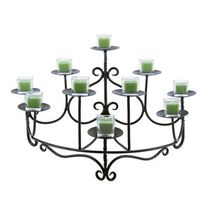 Spandrels Wrought Iron Hearth Candelabra