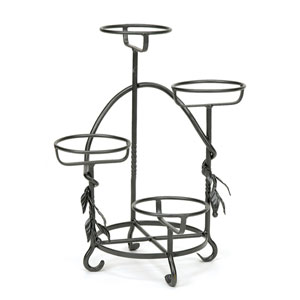 Wrought Iron Cascading Plant Stand