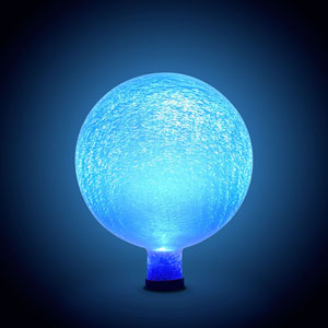Gazing Ball 10 Inch Blue Lapis Frosted