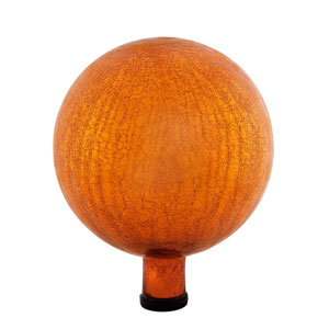 10 Inch Gazing Globe, Mandarin, Crackle